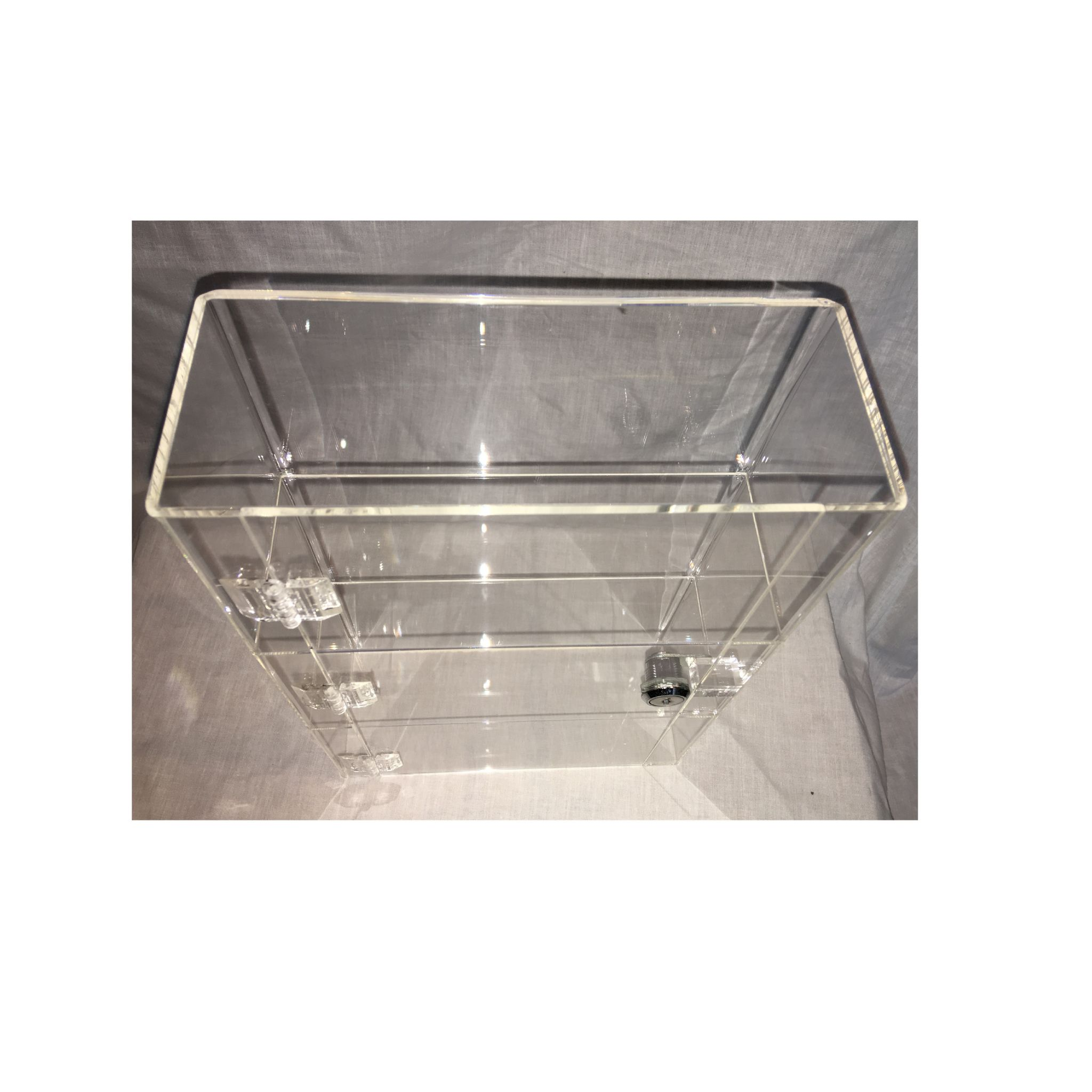 1 High Gloss Clear Acrylic Display Case With Front Door